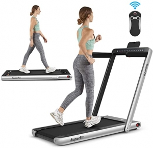 ihocon: Goplus 2 in 1 Folding Treadmill with Dual Display 2合1折疊式跑步機