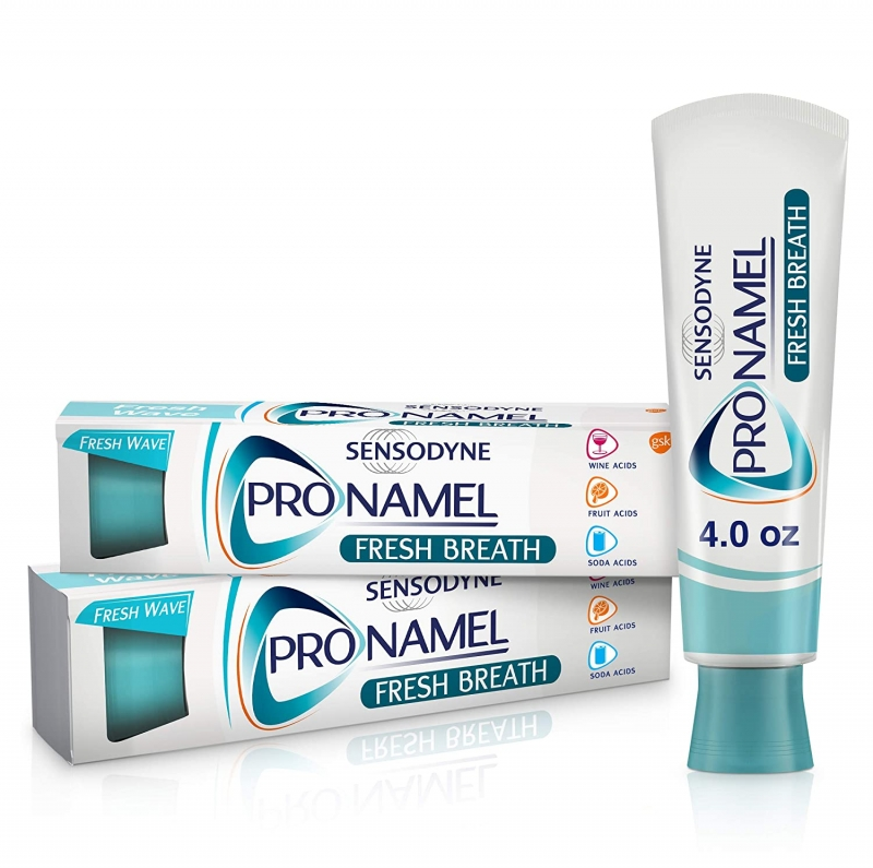 ihocon: Sensodyne Pronamel Toothpaste for Tooth Enamel Strengthening, Fresh Breath, 4 Ounce (Twin Pack)  牙釉質強化牙膏