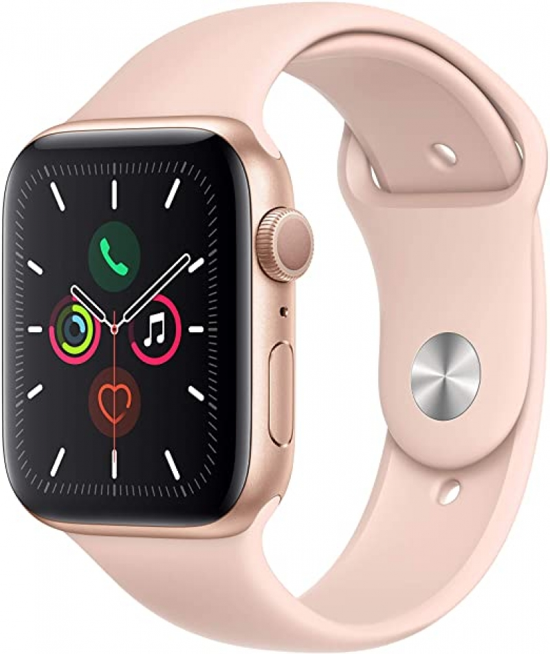 ihocon: Apple Watch Series 5 (GPS, 44mm) - Gold Aluminum Case with Pink Sport Band