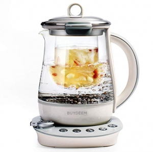 ihocon: Buydeem K2683 Health-Care Beverage Tea Maker and Kettle, 9-in-1 Programmable Brew Cooker Master, 1.5 L, Gray 北鼎9合1養生壺