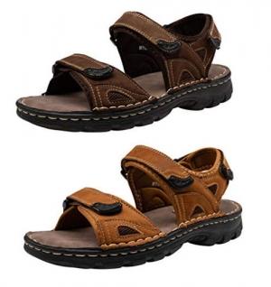 ihocon: VEPOSE Men's Sandals Leather 男士皮涼鞋 - 3色可選
