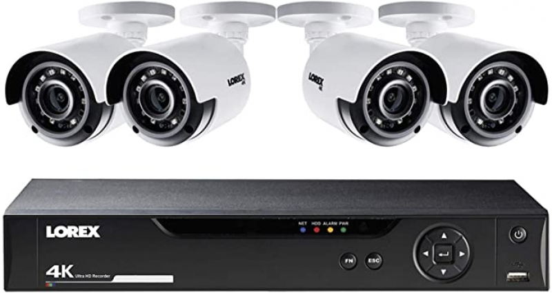 ihocon: Lorex LHV5100 Series 8-Channel 4K UHD DVR Bundle with 1TB HDD and 4X LBV8531B 4K UHD Network Bullet Cameras with 135' Night Vision居家安全監視系統