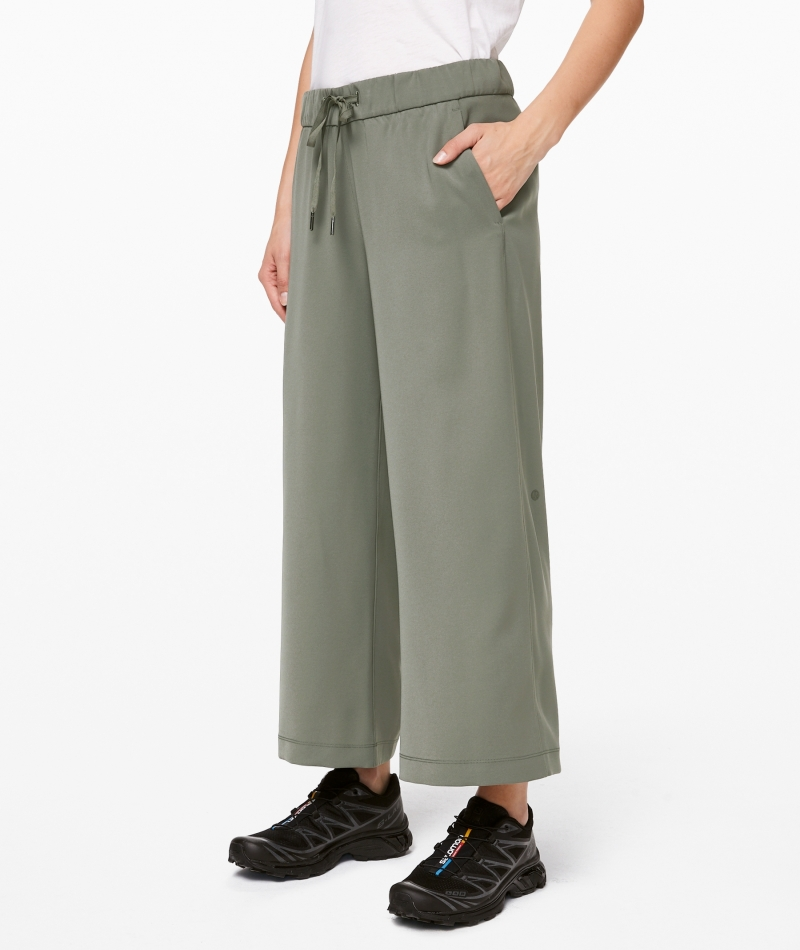 ihocon: On the Fly Wide-Leg 7/8 Pant Woven 女士寬腿褲