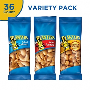 ihocon: PLANTERS Variety Packs (Salted Cashews, Salted Peanuts & Honey Roasted Peanuts) , 36 Count 隨身包堅果零食