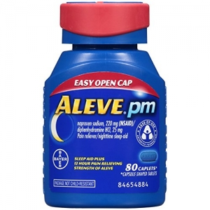 ihocon: Aleve PM Pain Reliever/Nighttime Sleep-Aid, Non-Habit Forming, 80 Count 止痛/夜間助眠