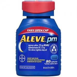 Aleve PM 止痛/夜間助眠 80粒 $6.14(原價$13.99)