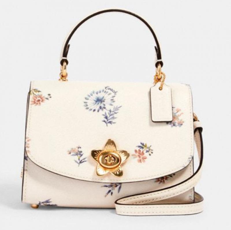 ihocon: Coach micro tilly top handle with dandelion floral print 花卉包