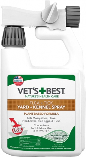 ihocon: Vet's Best Flea and Tick Yard and Kennel Spray | Yard Treatment Spray Kills Mosquitoes, Fleas, and Ticks with Certified Natural Oils 跳蚤/蜱蟲/蚊蟲庭園殺蟲噴劑