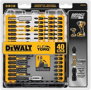 ihocon: DEWALT Screwdriver Bit Set, Impact Ready, FlexTorq, 40-Piece  螺絲起子替換頭