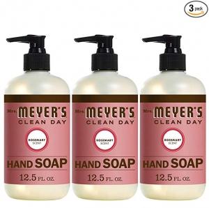 ihocon: Mrs. Meyer´s Clean Day Hand Soap, Rosemary, 12.5 fl oz, 3 ct 迷迭香手工液皂