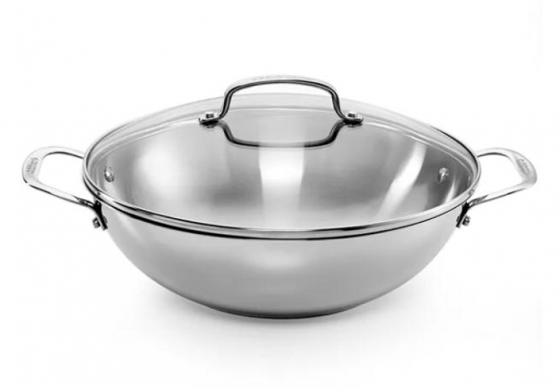 ihocon: Cuisinart Chef's Classic Stainless 12 Covered Pan 含蓋不銹鋼鍋
