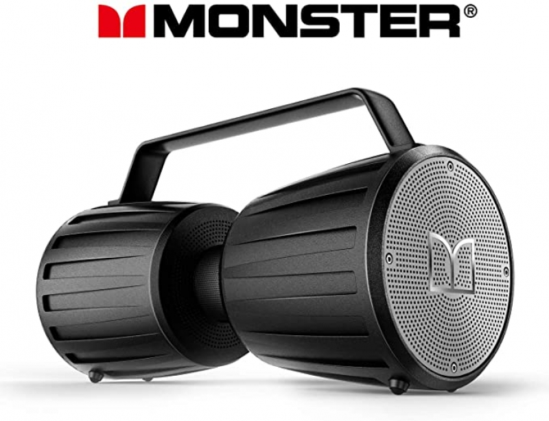 ihocon: Monster IPX7 Waterproof Bluetooth Speaker 5.0 with Microphone Input for Karaoke, 40 防水藍牙無線揚聲器