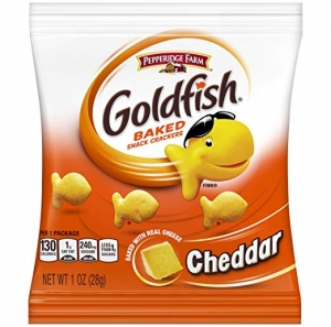 ihocon: Pepperidge Farm Goldfish Cheddar Crackers, Multi Pack Box, 1 oz Single-Serve Snack Pack, 60Count  小魚餅乾