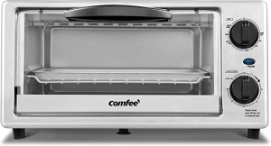 ihocon: Comfee' Toaster Oven Countertop, 4-Slice 不銹鋼小烤箱