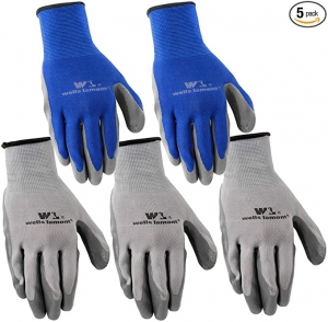 ihocon: Wells Lamont Nitrile Work Gloves, 5 Pack, Large 工作手套