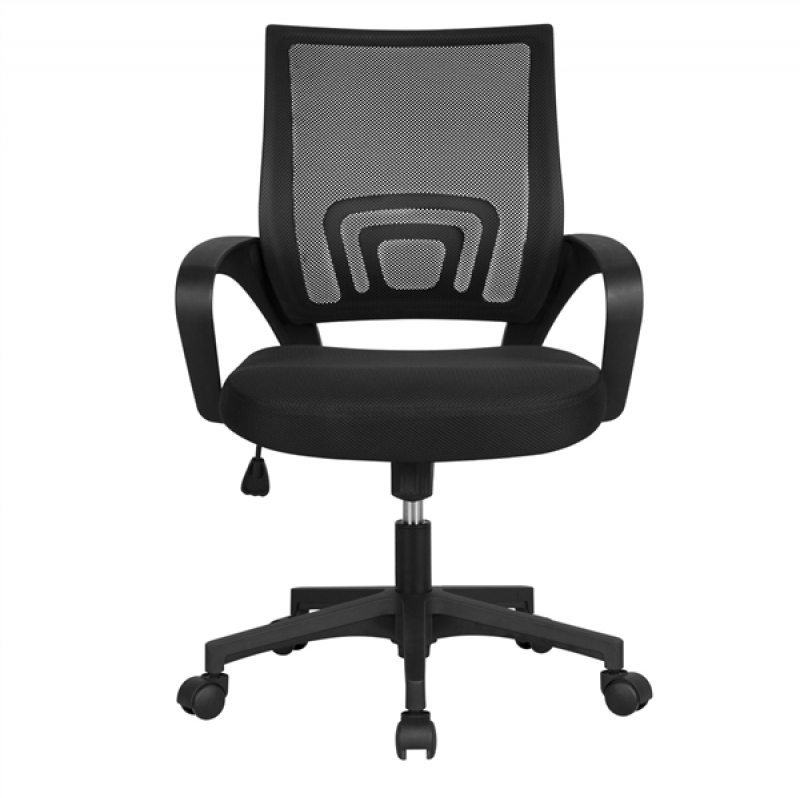 ihocon: Smilemart Adjustable Mid Back Mesh Swivel Office Chair with Armrests電腦椅/辦公椅