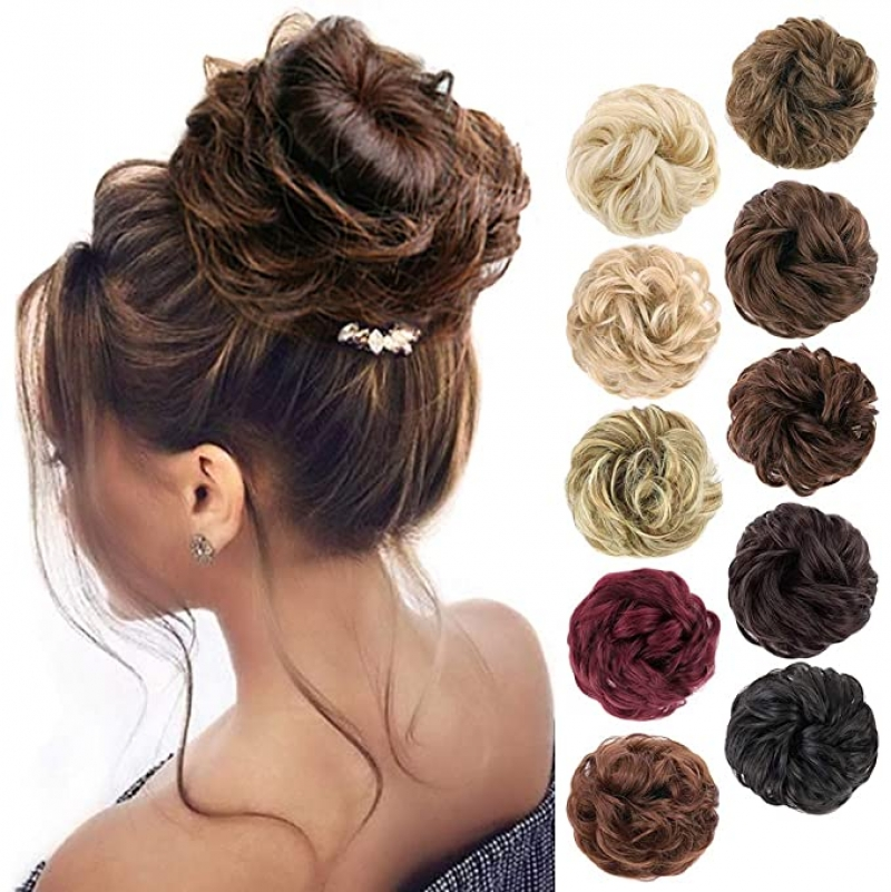 ihocon: MORICA 1PCS Messy Hair Bun Hair Scrunchies Extension 包包頭假髮片1個