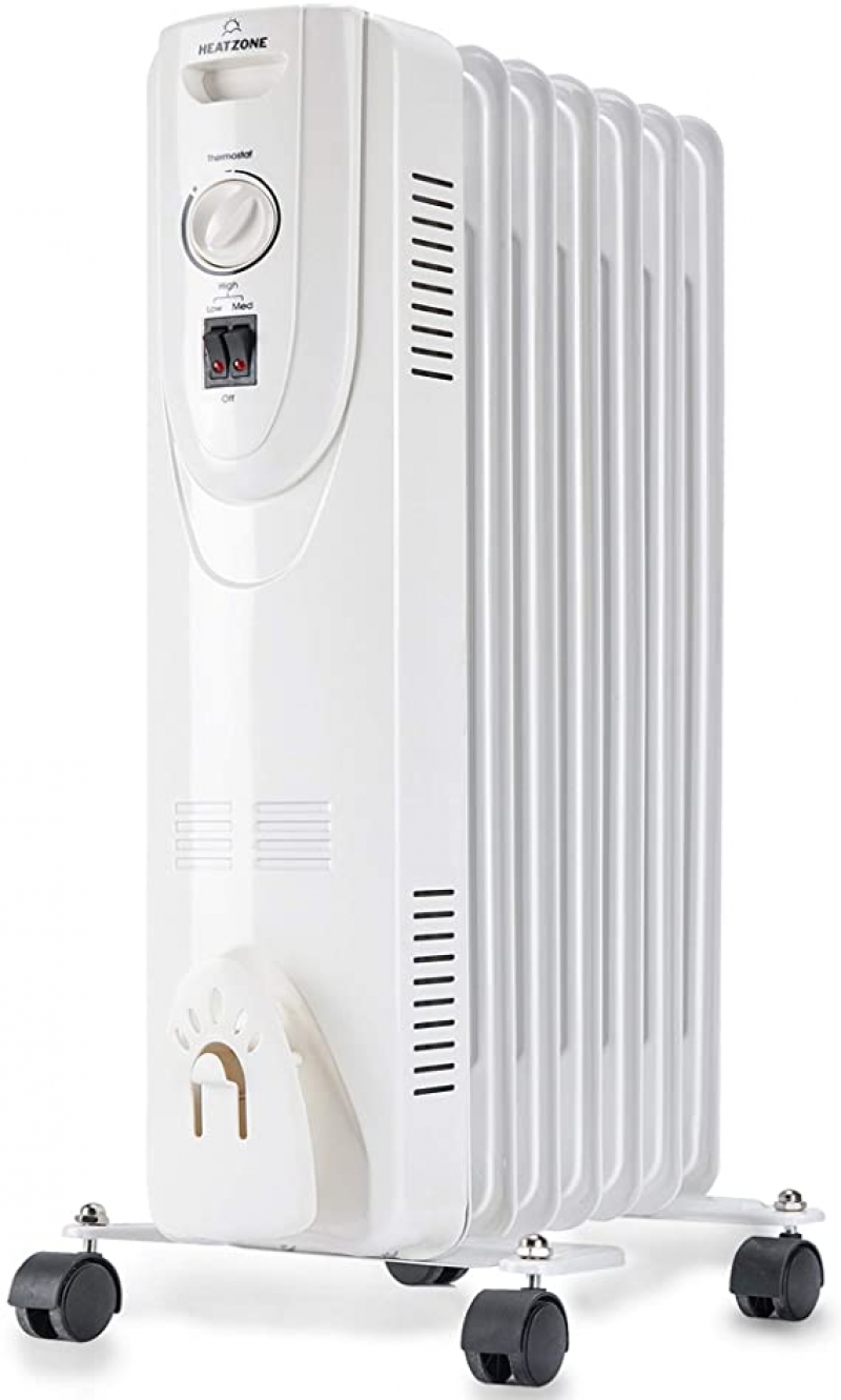 ihocon: HEATZONE - 1500W - Electric Oil-Filled Home Energy-Efficient Portable Space Heater電暖爐