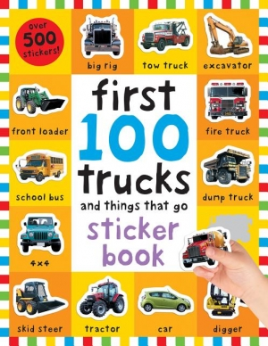 ihocon: First 100 Stickers: Trucks and Things That Go : Sticker book 貼紙書