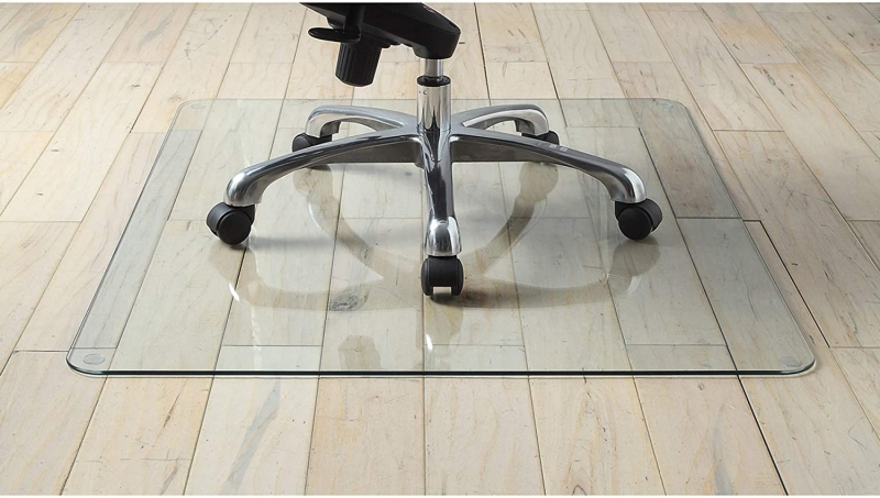ihocon: Lorell Tempered Glass Chair Mat, 36 鋼化玻璃電腦椅地墊