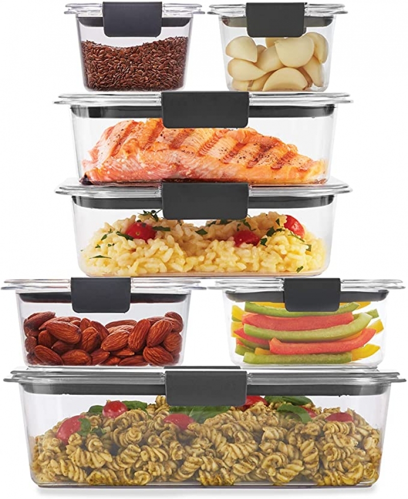 ihocon: Rubbermaid Brilliance Storage 14-Piece Plastic Lids | BPA Free, Leak Proof Food Container, Clear  防漏保鮮盒