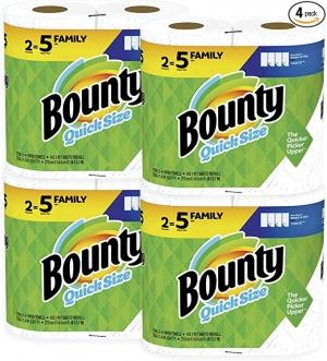 [8捲等於20捲的份量] Bounty Quick-Size Paper Towels廚房紙巾8捲Family Rolls $21.99