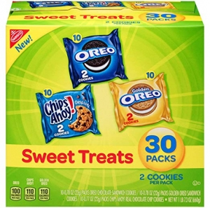 ihocon: Nabisco Cookies Sweet Treats Variety Pack Cookies - with Oreo, Chips Ahoy, & Golden Oreo - 30 Snack Packs 餅乾
