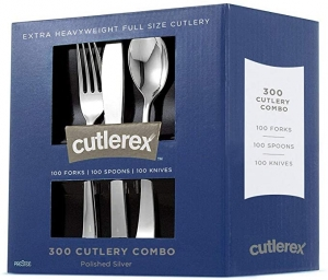 ihocon: Cutlerex 300 Plastic Silverware Set 塑膠仿銀器刀叉湯匙