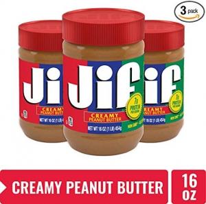 ihocon: Jif Creamy Peanut Butter, 16 Ounce, Pack of 3 花生醬3罐