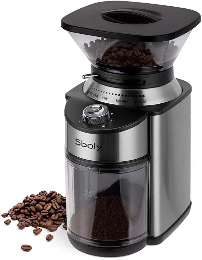 ihocon: Sboly Conical Burr Coffee Grinder電動咖啡研磨機