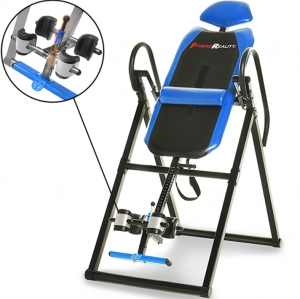 ihocon: Fitness Reality 690XL Triple Safety Locking Inversion Table with Lumbar Pillow 倒立機含腰枕