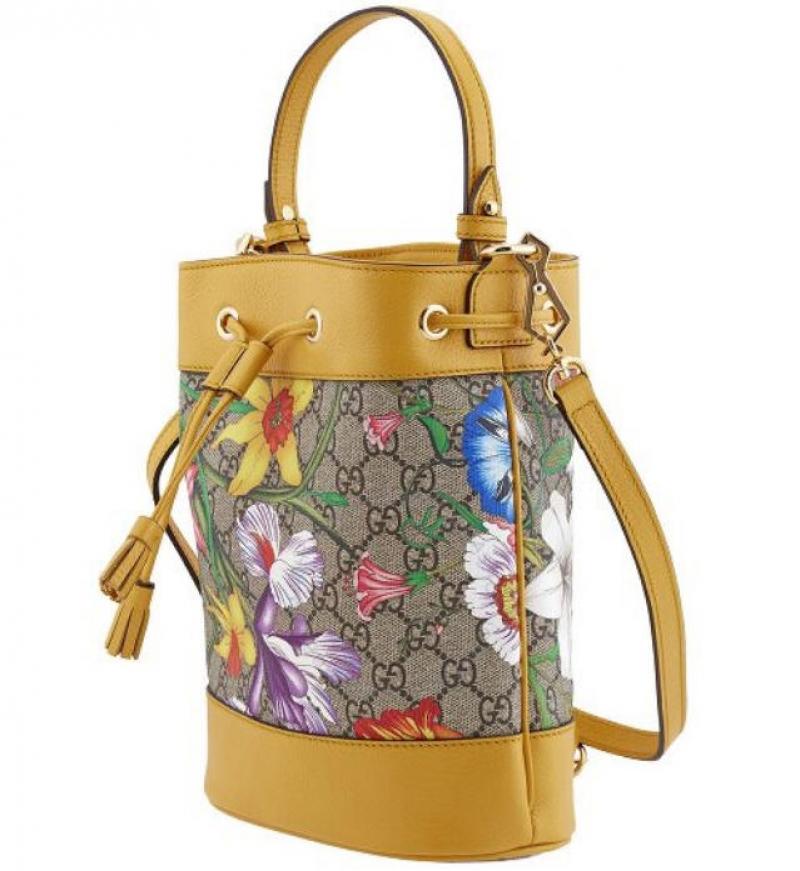 ihocon: Gucci Ophidia GG Flora Pattern Small Bucket Bag 水桶包