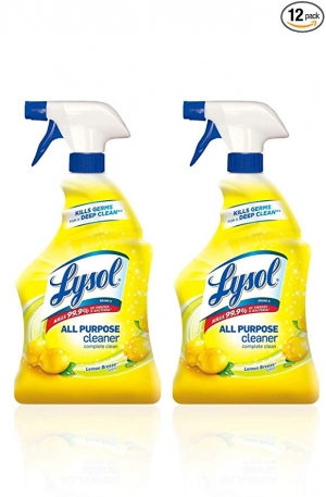 ihocon: Lysol All Purpose Cleaner, Lemon Breeze, 32 oz(Pack of 2) 萬用消毒清潔劑