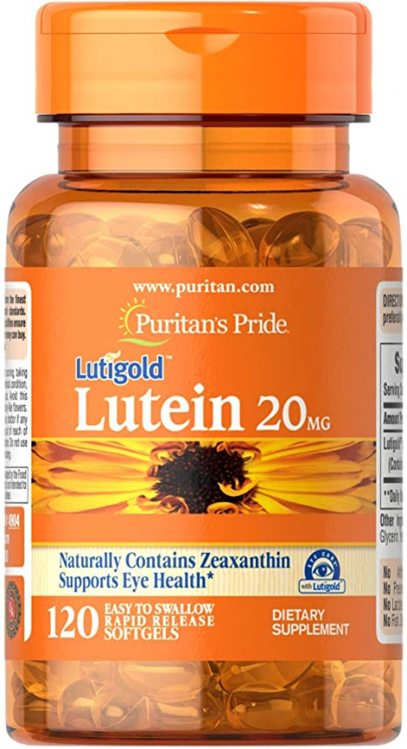 ihocon: Puritans Pride Lutein 20 mg with Zeaxanthin Softgels, 120 Count  葉黃素