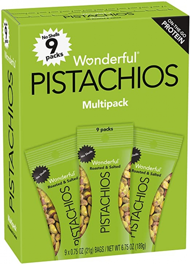 ihocon: Wonderful Pistachios No Shells Roasted and Salted Nuts, 6.75 Ounce 無殼鹽烤開心果