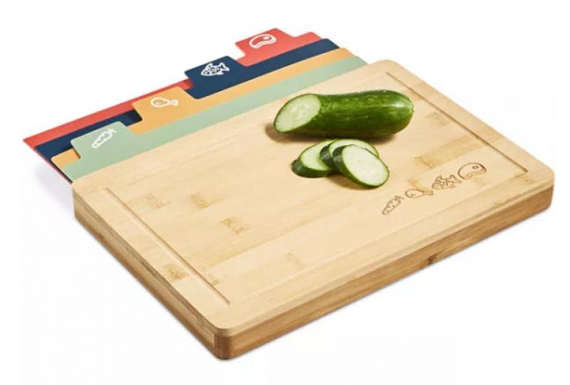 ihocon: Art & Cook 5-Pc. Bamboo Board & Cutting Mat Set 竹製切菜板