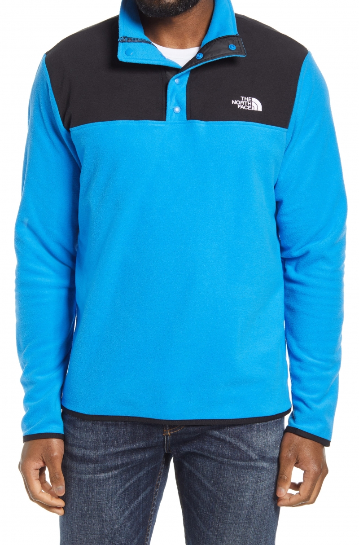 ihocon: THE NORTH FACE TKA Glacier Snap Neck Men's Pullover 男士長袖衫-2色可選