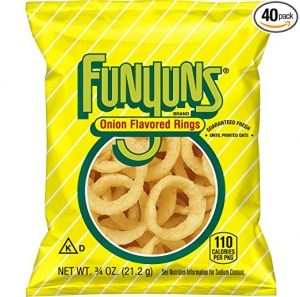 ihocon: Funyuns Onion Flavored Rings, .75 Ounce (Pack of 40)洋蔥口味圈圈