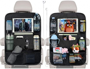 ihocon: PaiTree Upgrade Backseat Car Organizer for Kids with Charge Earphone Hole, 2PCS汽車椅背收納袋