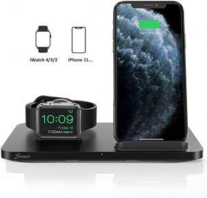 ihocon: Seneo 2-in-1 7.5W Qi Charging Stand and Apple Watch dock 2合1手機/手錶無線充電器