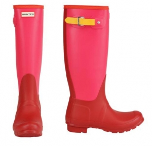 ihocon: Hunter Women's Original Colorblock Tall Rain Boots雨靴