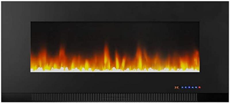 ihocon: Amazon Basics Wall-Mounted Recessed Electric Fireplace - 42-Inch 嵌入式電熱壁爐