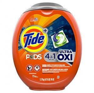 ihocon: Tide Pods洗衣膠囊 Ultra Oxi Liquid Laundry Detergent Pacs, 73 Count