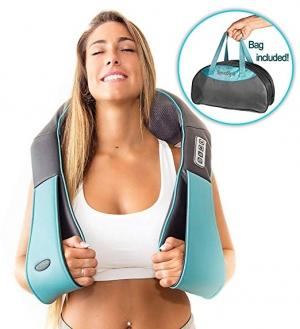ihocon: Shiatsu Back Neck Shoulder Massager With Heat Deep Tissue 3D Kneading Pillow肩頸加熱按摩器