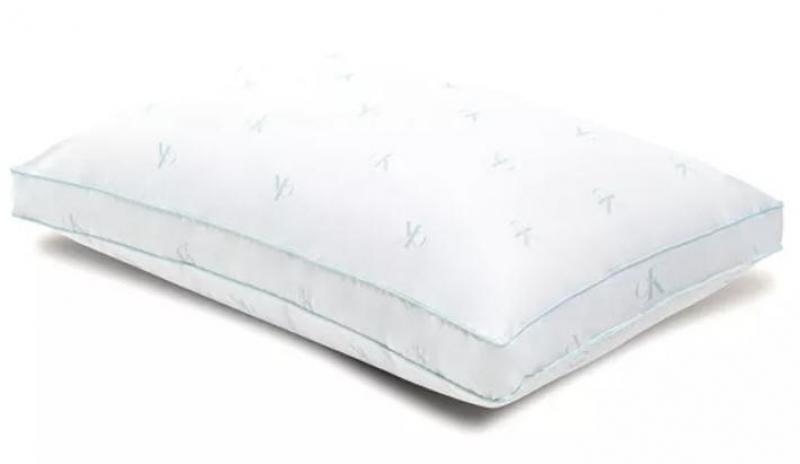 ihocon: Calvin Klein Monogram Logo Extra Firm Support Cotton Pillow, Standard/Queen  特硬棉質枕頭