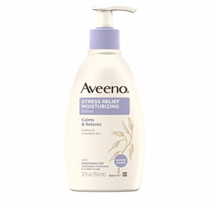 ihocon: Aveeno Stress Relief Moisturizing Body Lotion with Lavender, Natural Oatmeal and Chamomile & Ylang-Ylang Essential Oils to Calm & Relax, 12 fl. oz 身體保濕乳