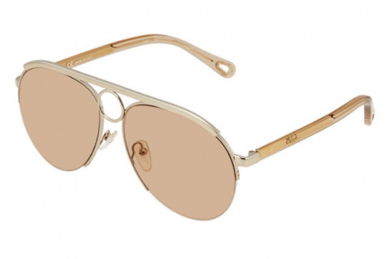 ihocon: Chloe Rose Gold Aviator Ladies Sunglasses女士太陽眼鏡