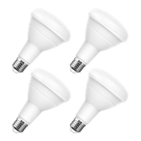 ihocon: LOHAS BR30 LED Bulbs 100 Watt Equivalent, Dimmable 1100 Lumen with E26 Base, 4 Pack 光線微調燈泡