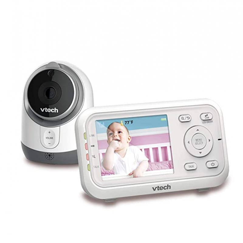 ihocon: VTech VM3253 Video Monitor with 2.8 Auto On Screen, Invisible LED Infrared Night Vision, 2-Way Talk 嬰兒監看器