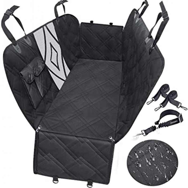 ihocon: Urpower Upgraded Dog Seat Covers with Mesh Visual Window 防水汽車寵物椅套